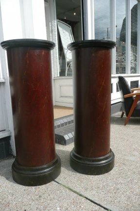 Pair of painted columns