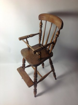 Child's High Chair in Elm
