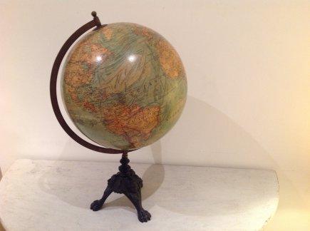 Globe on Tripod Stand
