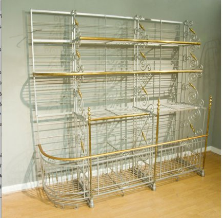 Very Decorative French Baker's Shop Rack